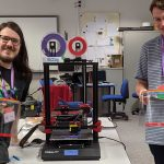 Chris, Sean and 3D printer McCoy